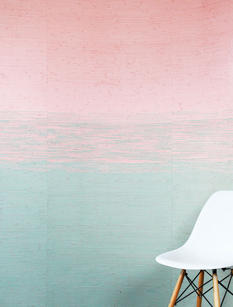 Ombre sustainable wallpaper